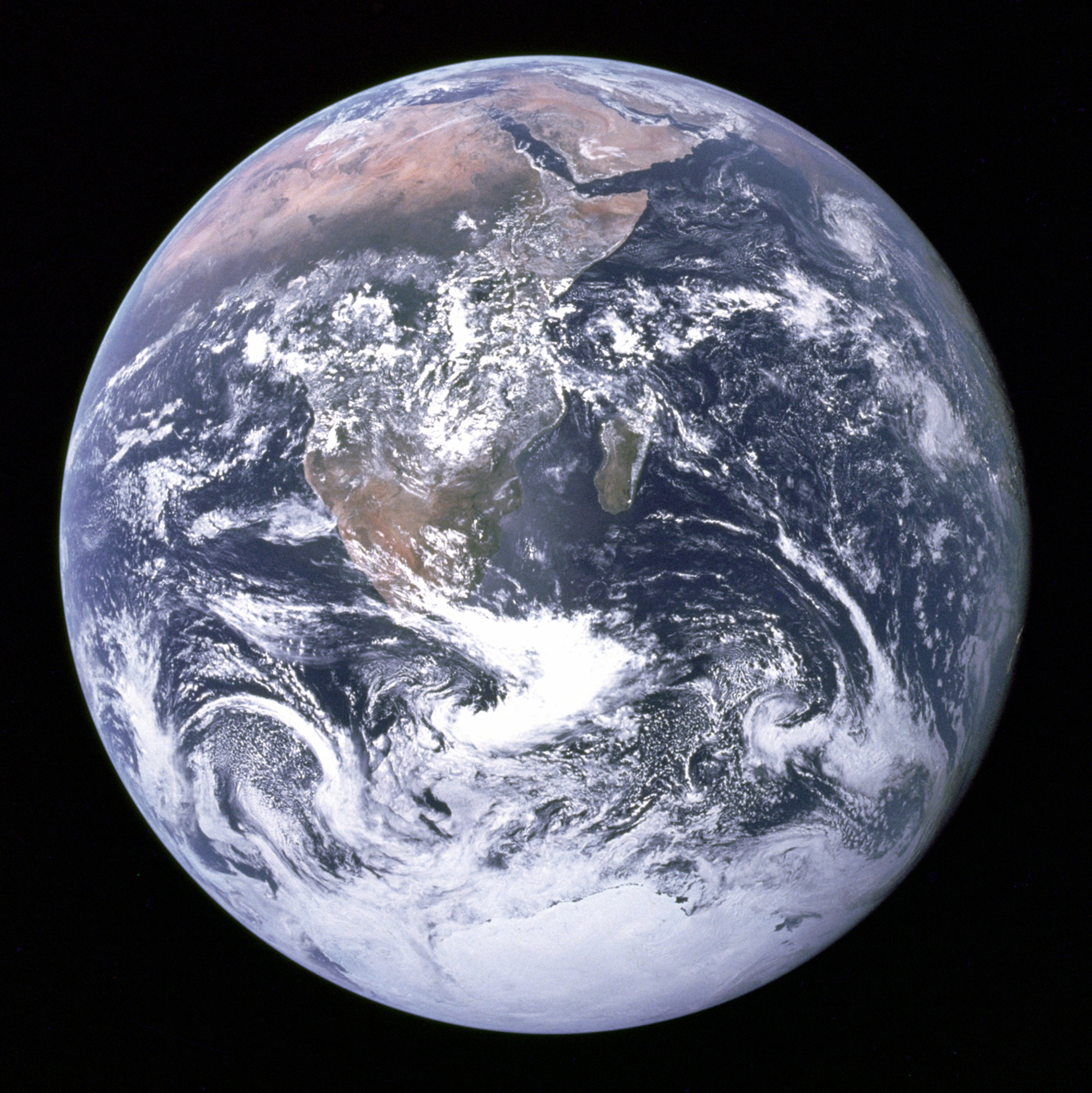 """""""The Blue Marble"""" image of Earth from Apollo 17 in 1992"""