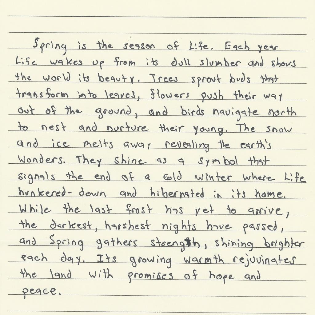 NEOplaneteers Spring Poem